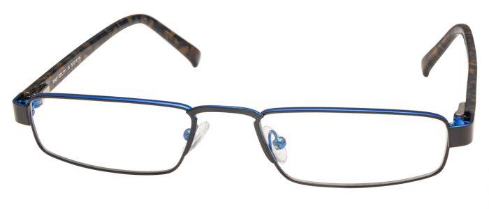 Col. 711 schwarz blau glänzend/ Bügel havanna