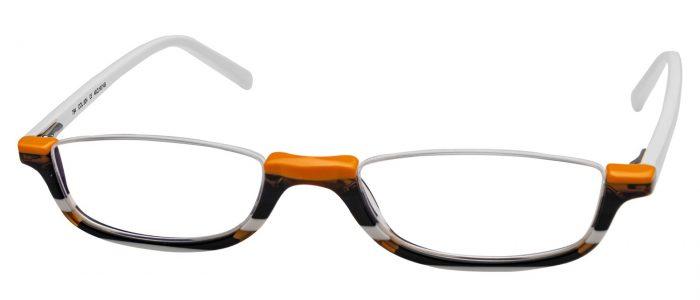 Col. 624 orange weiß braun/ Bügel weiß